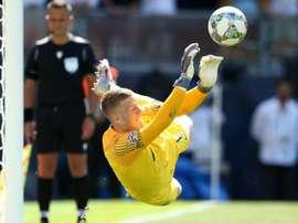 Pickford was England's hero on Sunday. GOAL