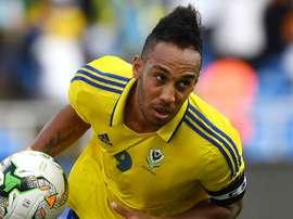 Pierre-Emerick Aubameyang equalised for Gabon from the spot. Goal