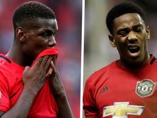 Manchester United - Pogba et Martial forfaits contre West Ham. AFP