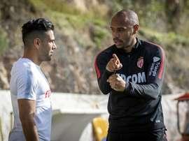 Thierry Henry aux côtés de Radamel Falcao à Monaco. Goal