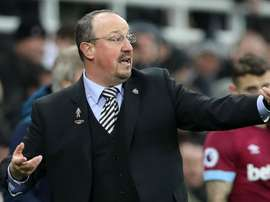 Rafael Benitez pictured as his side lost 0-3 at home to West Ham United. GOAL