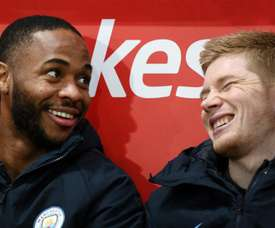 De Bruyne and Sterling are now teammates. GOAL