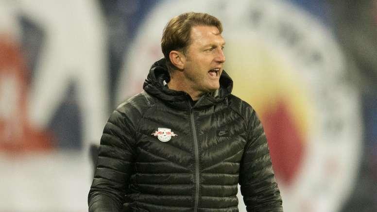 Ralph Hasenhuttl has led RB Leipzig to the top of the Bundesliga. Goal