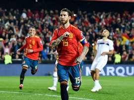 Ramos equals Casillas' Spain caps record. GOAL