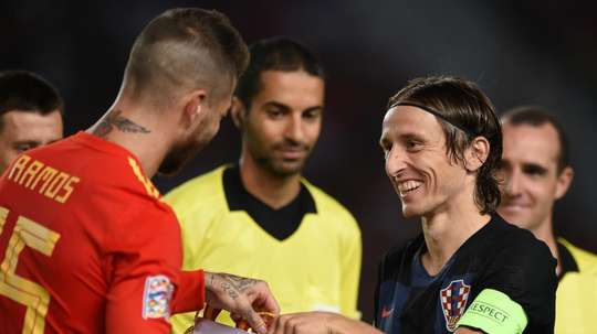 Modric defended Ramos. GOAL