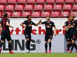 Timo Werner fez seis dos seus 24 gols na Bundesliga contra o Mainz. EFE