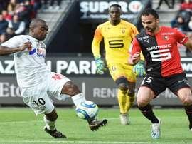Rennes-Amiens 3-1, Raphinha enfin buteur sur un cadeau de Niang. AFP