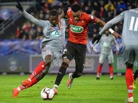 Lille se fait éliminé par Rennes. AFP