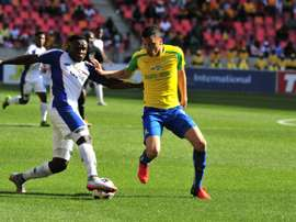Rhulani Manzini and Ricardo Nascimento - Chippa United v Sundowns