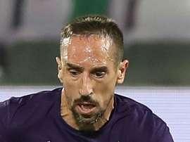 Ribery scored in Fiorentina's win against AC Milan. GOAL