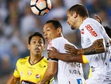 Clima aqueceu no final do encontro com o Barcelona Guayaquil. Goal
