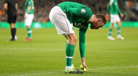 Ireland's performance wasn't affected by the protest. GOAL