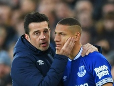 Everton's Richarlison thanks Silva