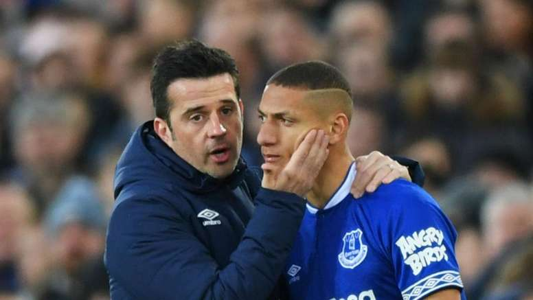 Everton's Richarlison thanks Silva