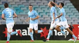 De Laet was on target for 10-man City. GOAL