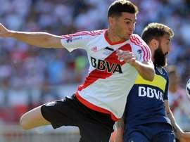 Alaro pendant le 'Superclasico' entre Boca Juniors et River Plate en Argentine. AFP