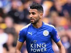 Riyad Mahrez sous les couleurs de Leicester City. GOAL