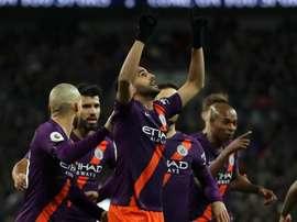 Mahrez celebra il goal. Goal