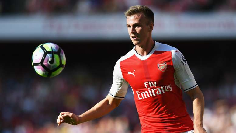 Rob Holding in action for Arsenal. Goal