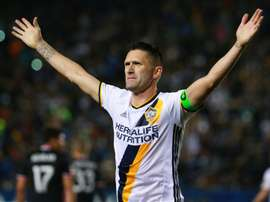 Robbie Keane on the pitch. Goal