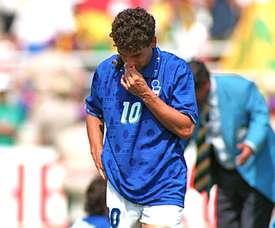 Roberto Baggio não superou o pênalti perdido contra o Brasil. EFE