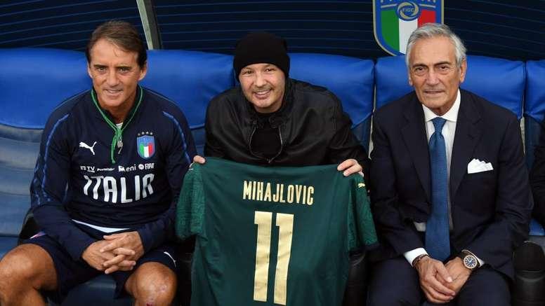 Sinisa e Mancini hanno entrambi giocato nella Sampdoria. Goal