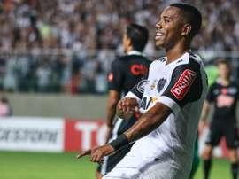 Robinho em grande no Atlético Mineiro. Goal