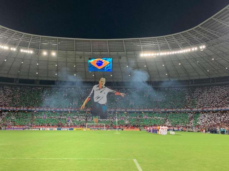 Fortaleza 0 x 1 São Paulo: Ceni é homenageado pela torcida com mosaico