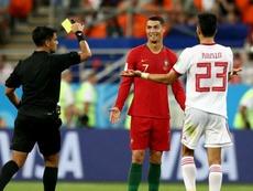 Ronaldo was nearly sent off. GOAL