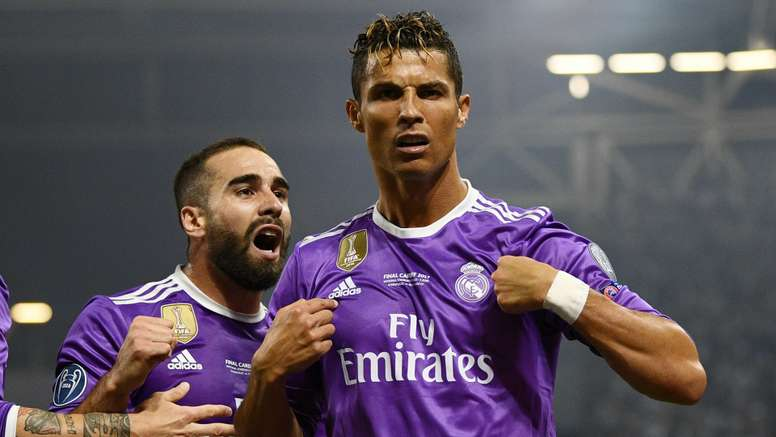 9ae12567d45a7 Pin Ronaldo propelled Real to victory in the Champions League final against  Juventus. GOAL