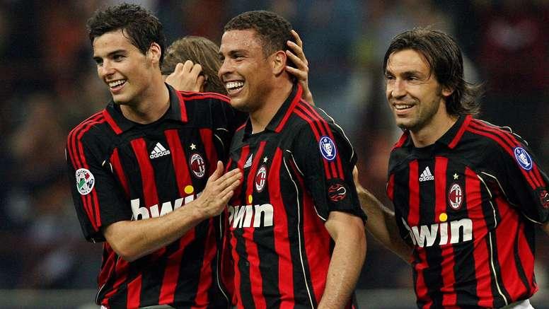 Ronaldo Nazario celebrates a goal with Milan in 2007. Goal