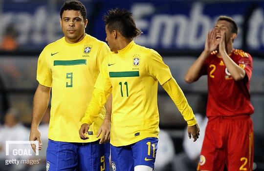 Ronaldo Fenômeno elogia Neymar e espera vê-lo superando Pelé.Goal