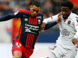 Ronny Rodelin et Adrien Tameze, Caen-Nice, Ligue 1. GOAL