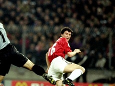 Roy Keane was a key figure in the side who won the Champions League in 1999. GOAL