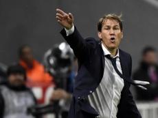 OL, Garcia regrette le coup d'arrêt de son équipe. AFP