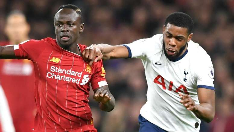 Tanganga (R) performed well in his first Premier League game for Tottenham. GOAL