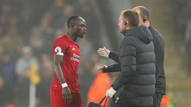 Mane expected to miss two more games with small muscle tear. GOAL