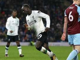 Sadio Mane, Liverpool-Burnley. GOAL