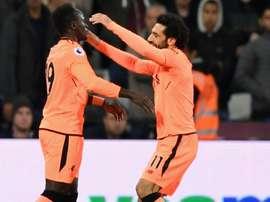 Sadio Mane et Mohamed Salah, Liverpool. GOAL