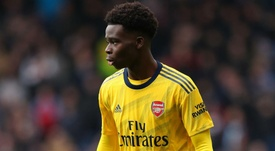 Arteta hopeful of renewals for Saka and young Arsenal talents. AFP