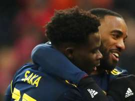 Bukayo Saka has been given lots of praise by teammate Lacazette. GOAL