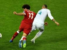 Salah left the match early. GOAL