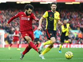 Salah brace lifts below-par Reds. GOAL