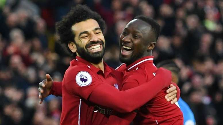 Salah and Keita will be hoping to lift the Premier League trophy at the end of the season. GOAL
