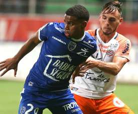Samuel Grandsir et Ruben Aguilar, Troyes-Montpellier, Ligue 1. GOAL