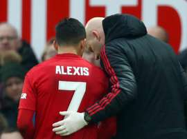 Sanchez limped out of the side's FA Cup tie on Saturday. GOAL