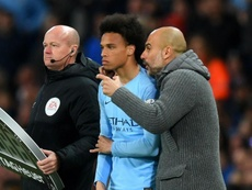 Guardiola wants to help Sane reach his potential at Man City rather than him move to Bayern. GOAL