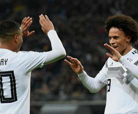 Sane and Gnabry scored in Germany's 3-0 win over Russia. GOAL