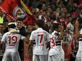 Quando o Benfica de Jesus perdeu para o São Paulo. EFE