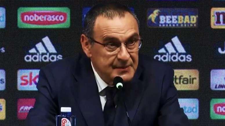 Sarri parle de Pogba à la Juve : 'Je l'aime beaucoup'. AFP
